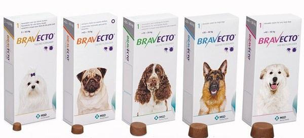 Бравекто для собак 20-40 кг (1000мг) MSD