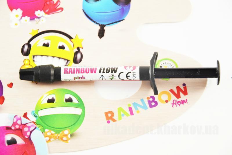 Фото Для стоматологических клиник, Материалы, Фотополимеры Rainbow flow (Рейнбоу флоу) цветной жидкотекучий композит