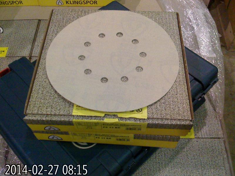 Шлифовальные круги диаметр 225 мм Klingspor PS 33 CK  для шлифмашин Giraffe (Жираф)