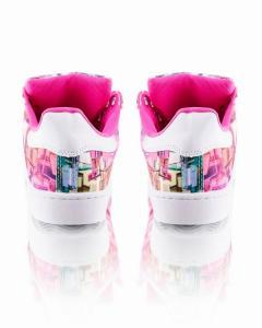 Фото  Кеды разноцветные с белым носком