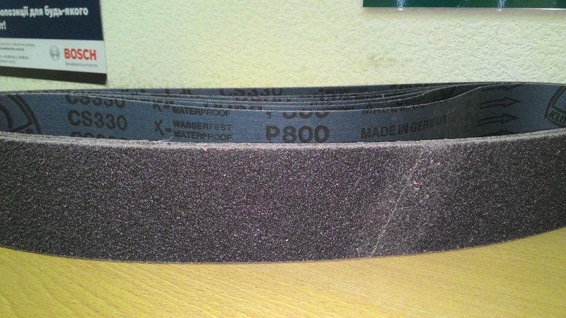 Шлифовальная лента для Гриндера CS330X Klingspor гранулированный карбид кремния с пробкой