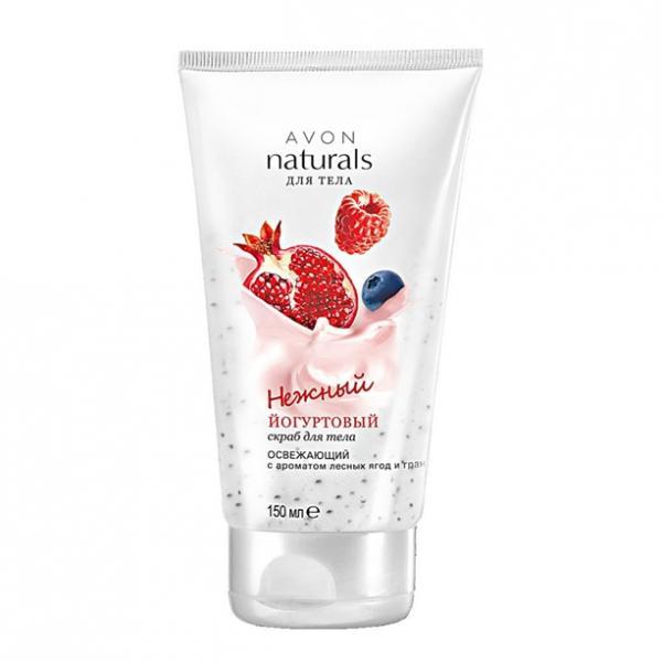 Йогуртовый освежающий скраб для тела с ароматом лесных ягод (150 мл)