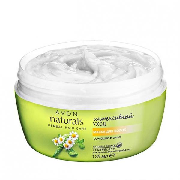 Фото для волос, naturals Маска для волос «Интенсивный уход. Ромашка и алоэ» (125 мл)
