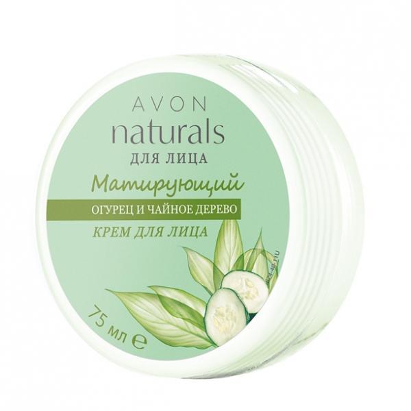 Фото для волос, naturals Матирующий крем для лица «Огурец и чайное дерево»