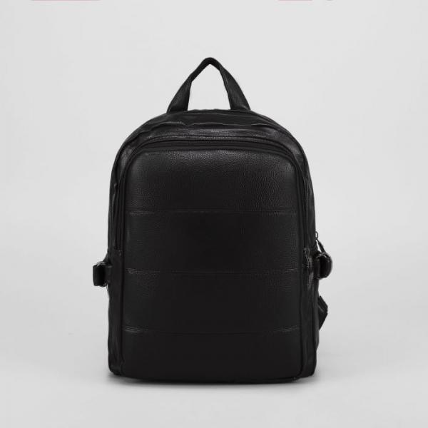 Рюкзак мол L-811, 27*9*35, отд на молнии, н/карман, черный