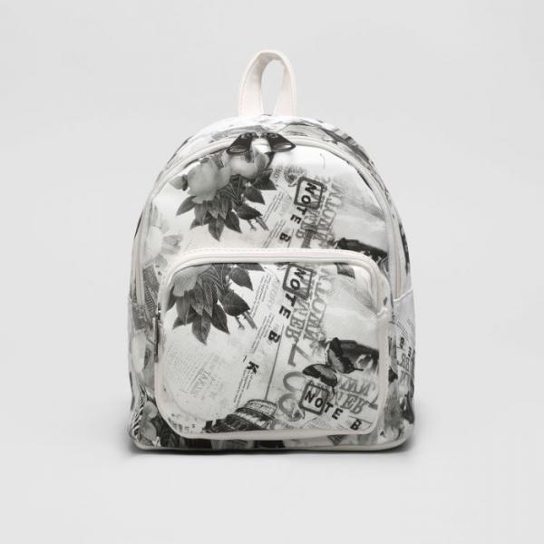 Рюкзак мол L-7190-1, 21*11*22, отдел на молнии, н/карман, белый