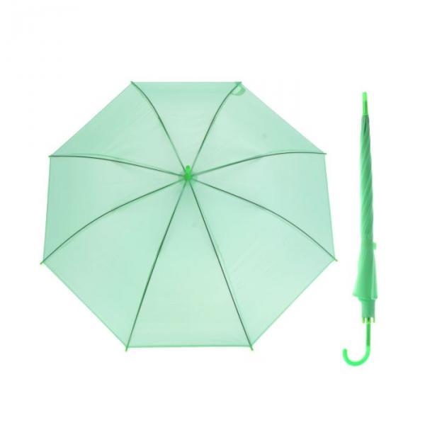 Зонт-трость, полуавтоматический, R=46см, цвет зелёный