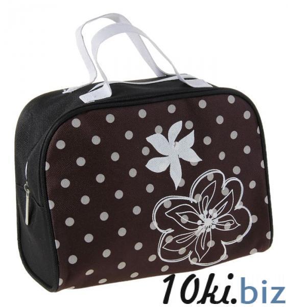 """Косметичка сумочка на молнии """"Горох"""", с ручками, 1 отдел, цвет чёрный купить в Лиде - Косметички и кейсы для косметики"""