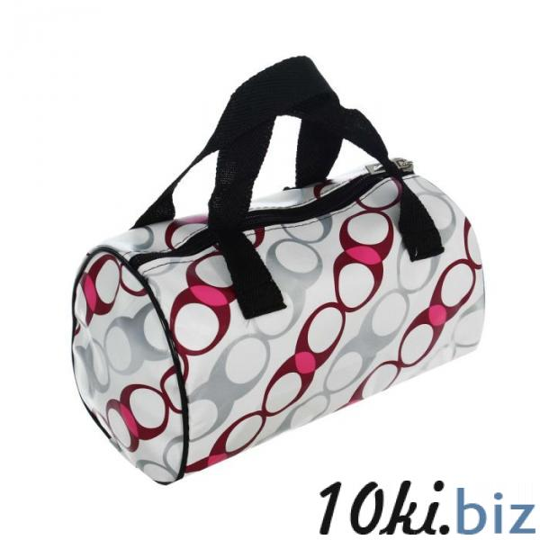 """Косметичка-сумка на молнии """"Овалы"""", 1 отдел, цвет белый купить в Лиде - Косметички и кейсы для косметики"""