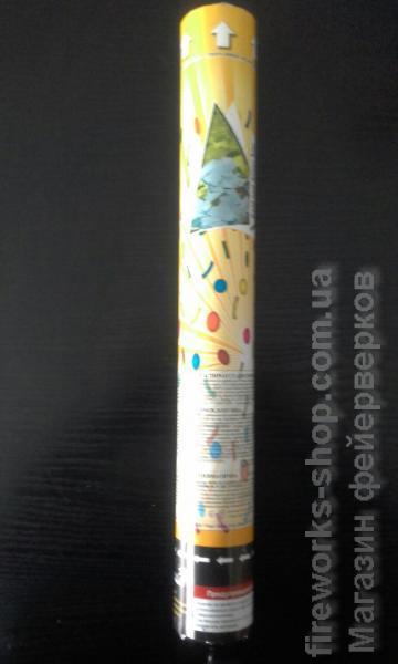 Фото Конфетти хлопушки пневмохлопушка 40 см