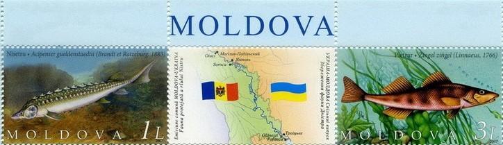2007 № 852-853 сцепка почтовых марок Фауна Молдавия-Украина (Молдавский выпуск)