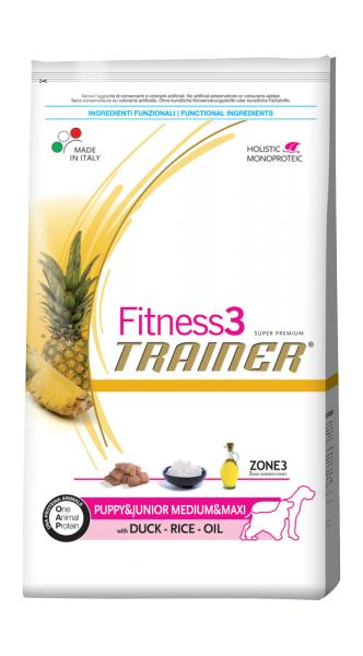 Trainer Fitness3 Puppy Medium & Maxi With Duck Rice Oil