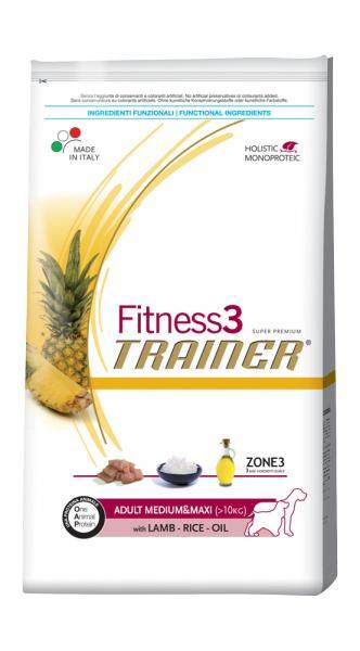 Trainer Fitness3 Adult Medium & Maxi With Lamb Rice Oil