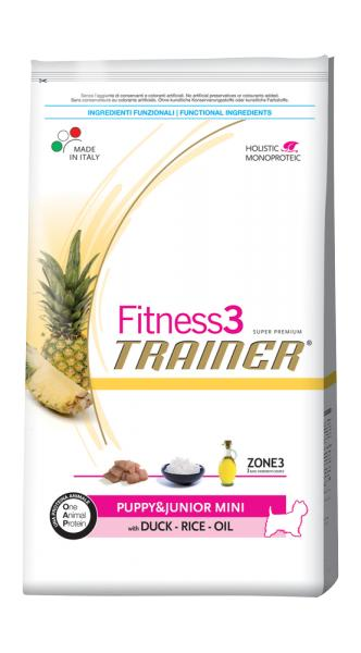 Trainer Fitness3 Puppy Junior & Mini With Duck Rice Oil