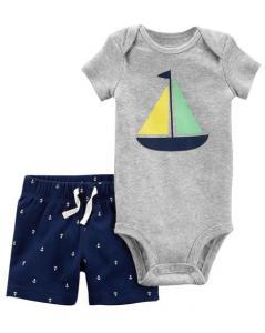 Фото В наличии , Детская одежда, Одежда от 0 до 2 лет CARTERS Комплект 2 в 1 (кораблик) р. 12м