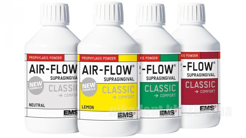 Фото Для стоматологических клиник, Материалы, Лечебные и профилактические материалы Air-Flow CLASSIC COMFORT (Эйр флоу классик комфорт - Порошок профилактический ) 300гр, EMS