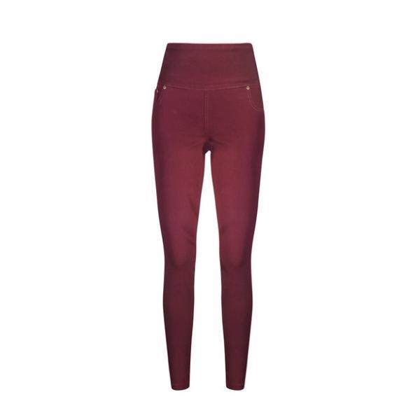Женские брюки (джегінси). Бордовые