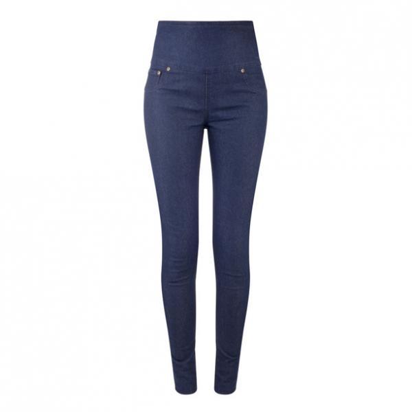 Женские брюки (джегінси). Темно-синие