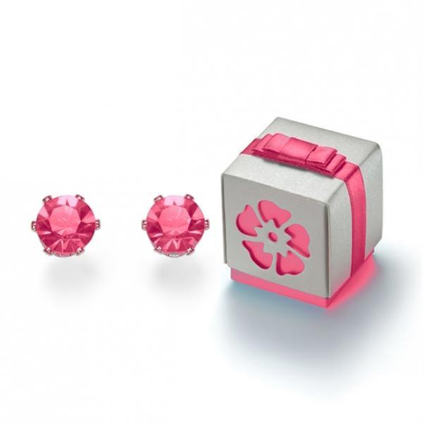 Серьги «Еддилін». Розовые