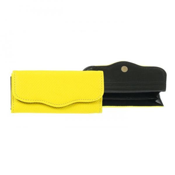 Кошелёк женский на клапане, 3 отдела, для карт, цвет жёлтый