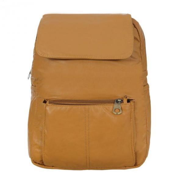 """Рюкзак молодёжный на молнии """"Элиза"""", 1 отдел, 2 наружных и 2 боковых кармана, бежевый"""