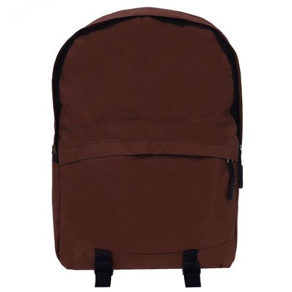 """Рюкзак молодёжный """"Однотонный"""", 1 отдел, 1 наружный и 2 боковых кармана, коричневый"""