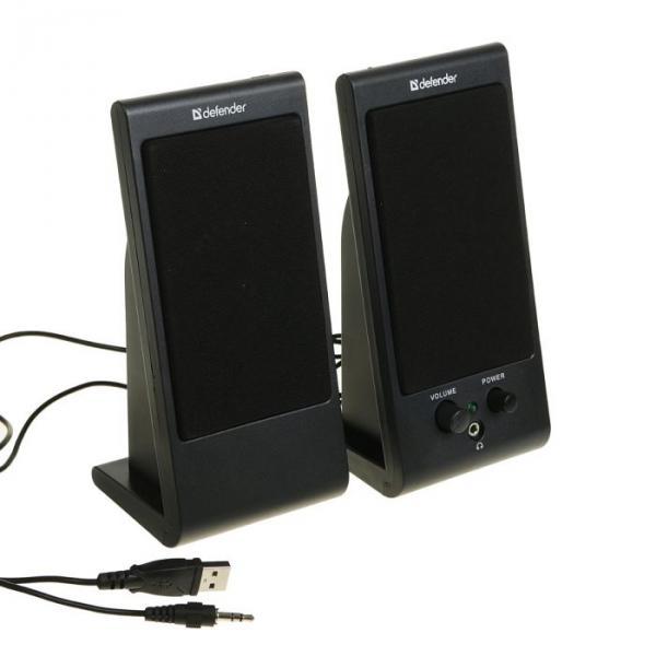 Акустическая система 2.0 DEFENDER SPK-170, 2х2Вт, USB, черные