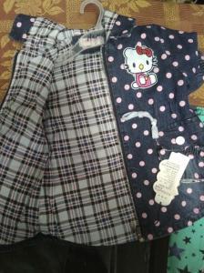 Фото  Куртка джинсовая для девочки.