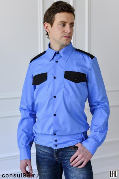 Рубашка для охранника мужская, на поясе
