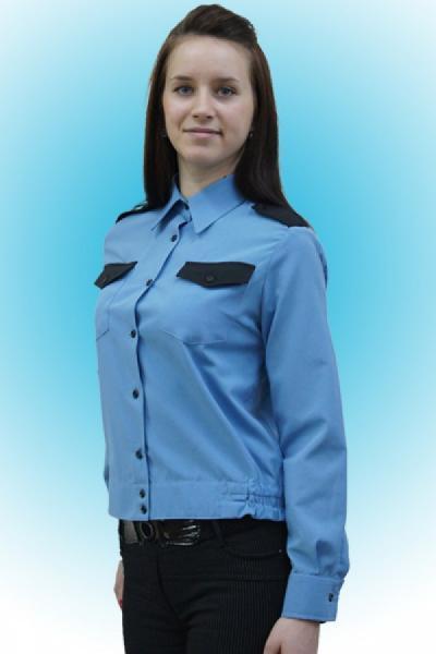 Рубашка для охранника женская, на поясе