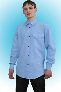 Фото  Рубашка мужская  рабочая, длинный рукав