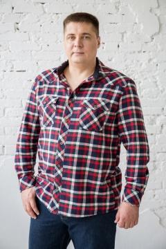 Рубашка мужская в клетку, длинный и короткий рукав