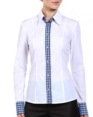 Блузка  женская классическая белая