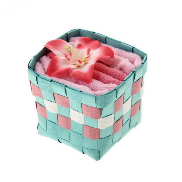 "Набор полотенец ""Collorista"" Lily white- pink 30 х 30см - 3 шт."