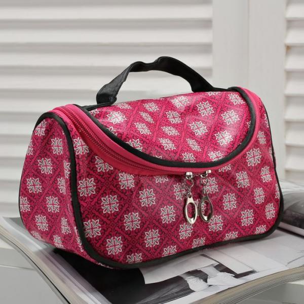 Косметичка-сумочка Клариса, 20*10*12, отд на молнии, малиновый
