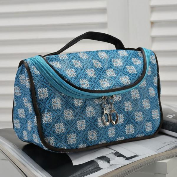 Косметичка-сумочка Клариса, 20*10*12, отд на молнии, голубой