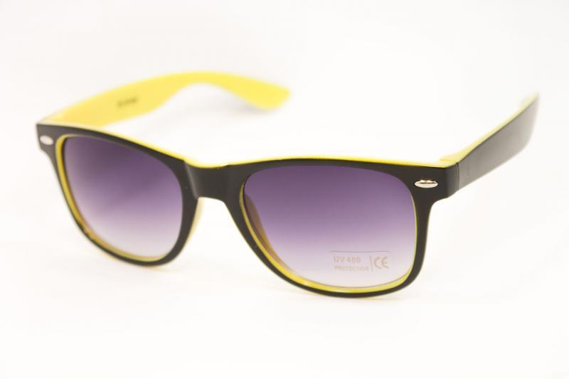 Очки Wayfarer желтые (1028-8)