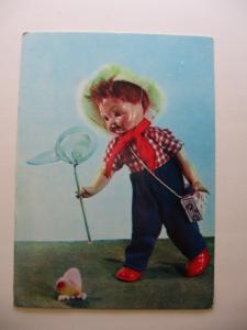 Фото Почтовые открытки (карточки), открытки, Куклы Художник Е. Аскинази и Е. Борисова Натуралист 1968