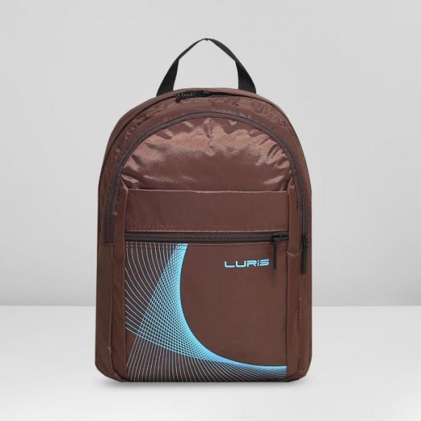 Рюкзак молодёжный на молнии, 2 отдела, 2 наружных кармана, цвет коричневый