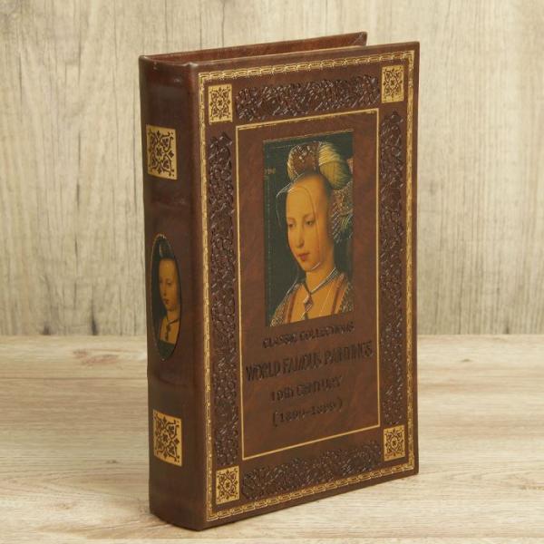 """Сейф-книга дерево """"Коллекция классики"""" кожзам 26х17х5 см"""