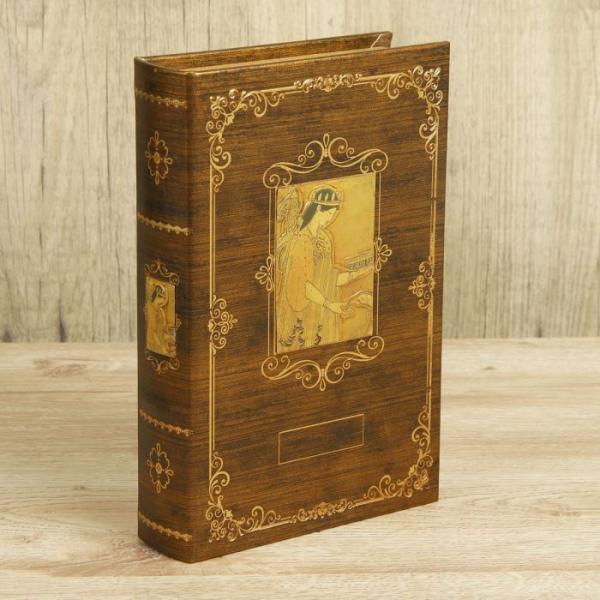 """Сейф-книга дерево """"Вельможа"""" кожзам 24х16х5 см"""