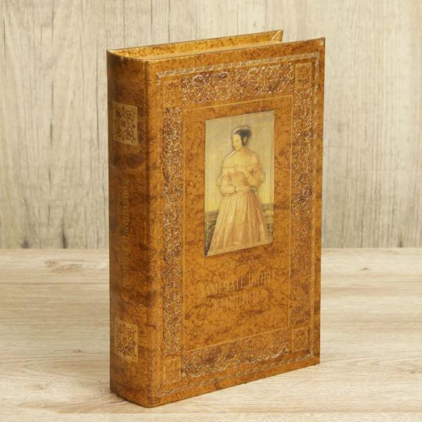 """Сейф-книга дерево """"Замечательные женщины"""" кожзам 24х16х5 см"""