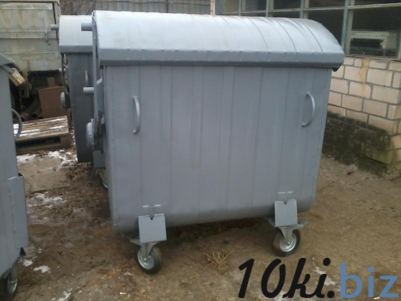 Мусорный контейнер 1,1 м3 крашеный на колесах купить в Белой Церкви - Бочки металлические