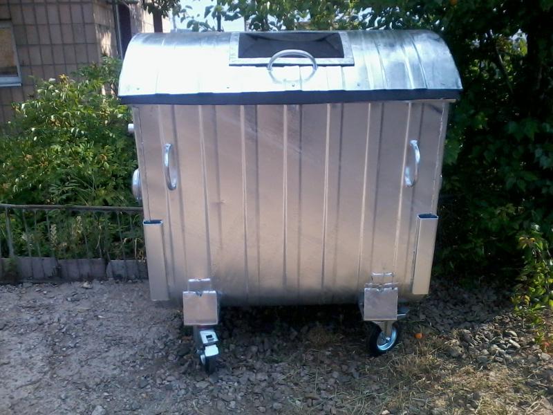 Мусорный контейнер 1,1 м3 оцинкованый для раздельного сбора