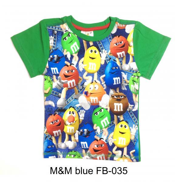 Фото ФУТБОЛКИ, От 2 до 6 лет M&M blue FB-035