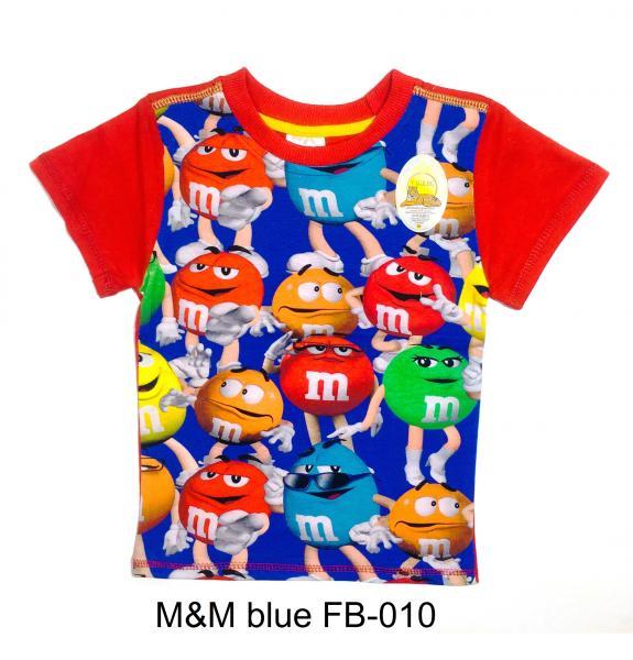 Фото От 2 до 6 лет, ФУТБОЛКИ M&M blue FB-010