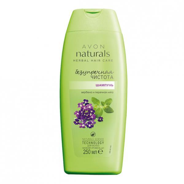 Фото для волос, naturals Шампунь для волос «Безупречная чистота. Вербена и перечная мята», 250 мл