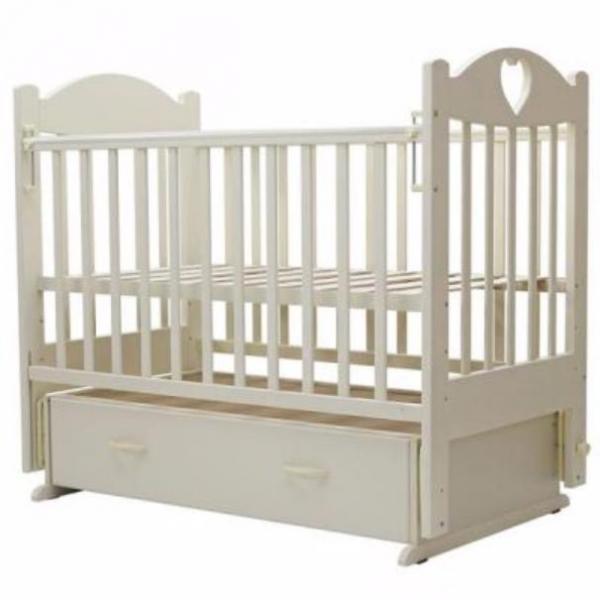 Детская кроватка Топотушки Ева-6 с сердечком (маятник поперечный)