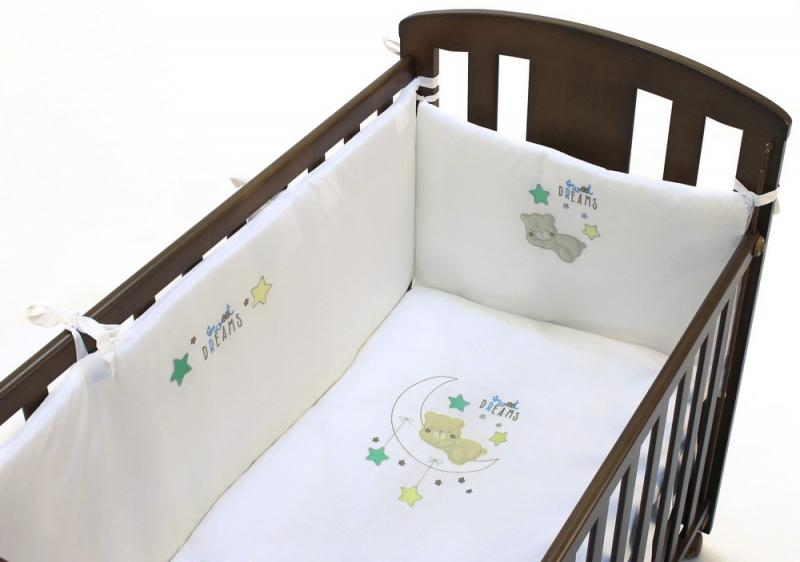 Комплект в кроватку Fiorellino Sweet Dreams 5 предметов 120x60cм