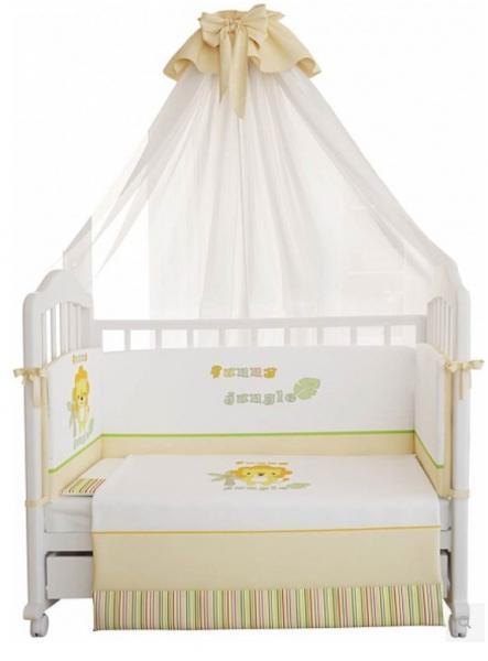 Комплект в кроватку Polini Джунгли 7 предметов
